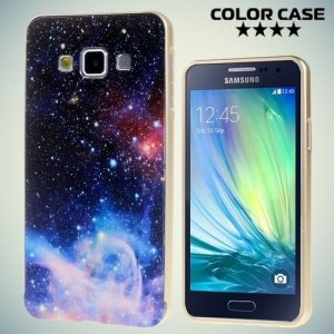 Чехол с металлическим бампером для Samsung Galaxy А3 - с рисунком Космос