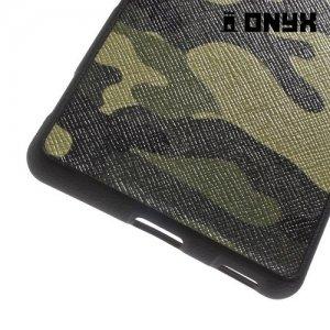 Силиконовый чехол под кожу для Sony Xperia M5 - с рисунком Хаки