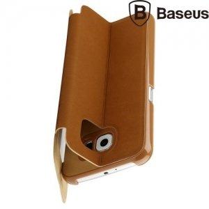 Чехол книжка BASEUS Terse для Samsung Galaxy S6 G920 - Коричневый