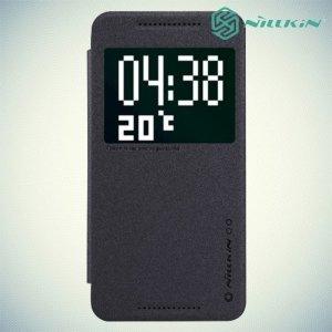 Чехол книжка с умным окном для HTC One E9 Plus серый - Nillkin Fresh