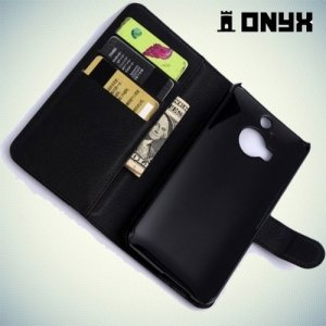 Чехол книжка для HTC One М9 Plus - Черный
