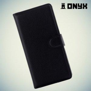 Чехол книжка для Huawei P8 lite - черный