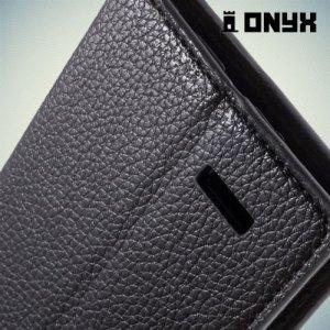 Чехол книжка для LG G4 Кошелек - черный