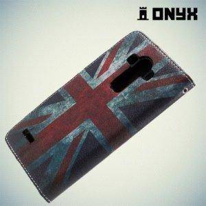 Чехол книжка для LG G4 с рисунком Британский Флаг