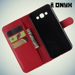 Чехол книжка для Samsung Galaxy A8 - красный