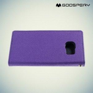 Чехол книжка для Samsung Galaxy S6 Edge Кошелек Mercury Goospery - Фиолетовый