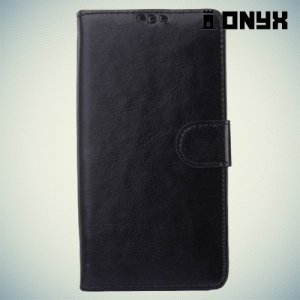Чехол книжка для Sony Xperia Z3+ - черный