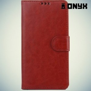 Чехол книжка для Sony Xperia Z3+ - коричневый