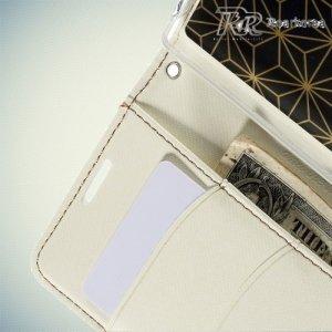 Чехол книжка для Sony Xperia Z5 Кошелек RoarKorea - Белый