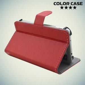 Чехол книжка для телефона 5 дюйма универсальный - Красный