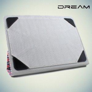 Чехол книжка универсальный для планшетов 10 дюймов тонкий Dream - яркие узоры