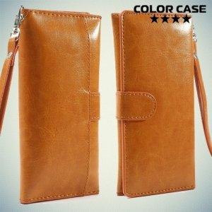 Чехол кошелек-сумка для телефона 3.7-4.3 дюйма - мандариновый