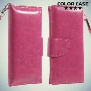 Чехол кошелек-сумка для телефона 3.7-4.3 дюйма - розовый