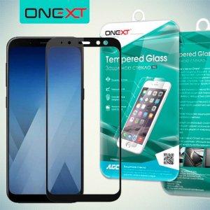 Черное защитное 3D стекло для Samsung Galaxy A6 2018 SM-A600F полноэкранное OneXT