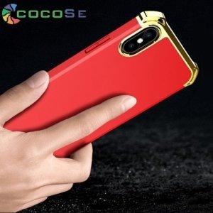 Cocose Пластиковый софт-тач чехол для iPhone Xs / X - Красный