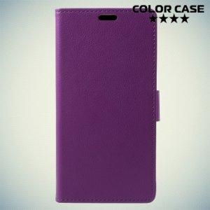 ColorCase флип чехол книжка для BQ Aquaris V - Фиолетовый