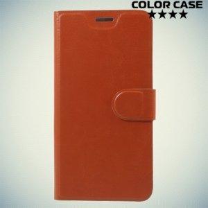 ColorCase флип чехол книжка для HTC U11 - Коричневый