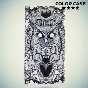ColorCase флип чехол книжка для Nokia 2 - Волк и сова