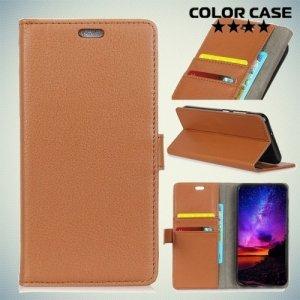 ColorCase флип чехол книжка для Nokia 2 - Коричневый