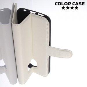 ColorCase флип чехол книжка для Samsung Galaxy S7 - Белый