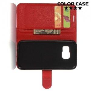 ColorCase флип чехол книжка для Samsung Galaxy S7 - Красный