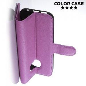 ColorCase флип чехол книжка для Samsung Galaxy S7 - Фиолетовый