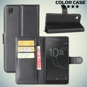 ColorCase флип чехол книжка для Sony Xperia L1 - Черный
