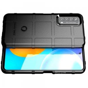 Defender Бронированный противоударный двухслойный чехол для Huawei P Smart 2021 - Черный
