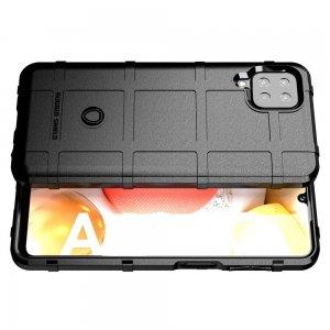 Defender Бронированный противоударный двухслойный чехол для Samsung Galaxy A12 - Черный