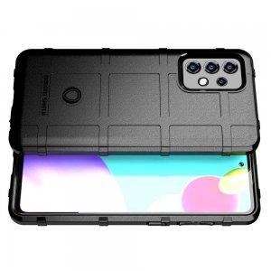 Defender Бронированный противоударный двухслойный чехол для Samsung Galaxy A52 - Черный