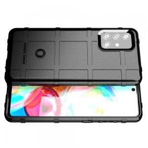 Defender Бронированный противоударный двухслойный чехол для Samsung Galaxy A72 - Черный