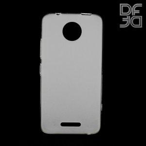 DF Case силиконовый чехол для Motorola Moto C - Белый матовый