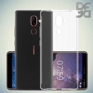 DF Case силиконовый чехол для Nokia 7 Plus - Прозрачный