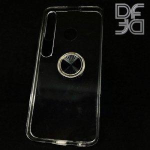 DF Двухкомпонентный чехол для Huawei Honor 20 Lite с кольцом для магнитного автомобильного держателя - Прозрачный