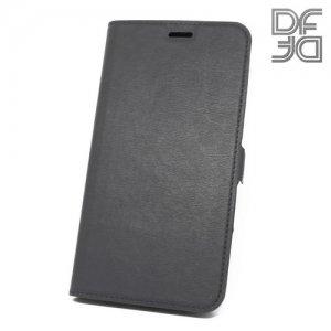 DF флип чехол книжка для ASUS ZenFone 4 Max ZC554KL - Черный
