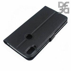 DF флип чехол книжка для ASUS ZenFone Max Pro M1 ZB601KL / ZB602KL  - Черный