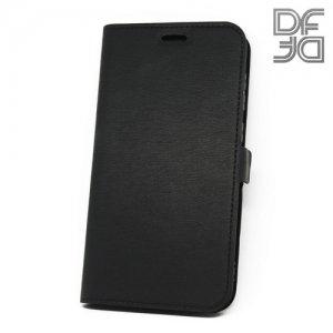 DF флип чехол книжка для Huawei Honor 6C Pro - Черный