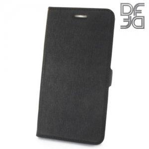DF флип чехол книжка для Huawei P10 Lite - Черный