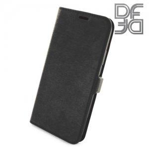 DF флип чехол книжка для iPhone 8 - Черный