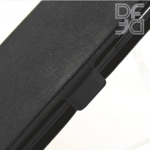 DF флип чехол книжка для iPhone Xs / X - Черный