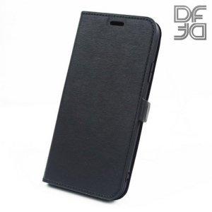 DF флип чехол книжка для iPhone XR - Черный