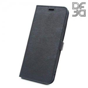 DF флип чехол книжка для iPhone XS Max - Черный