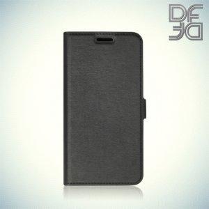 DF флип чехол книжка для Meizu M5c - Черный