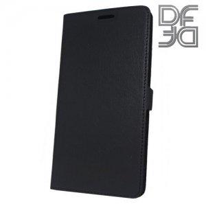 DF флип чехол книжка для Nokia 7 Plus - Черный