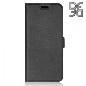 DF флип чехол книжка для Samsung Galaxy A01 - Черный