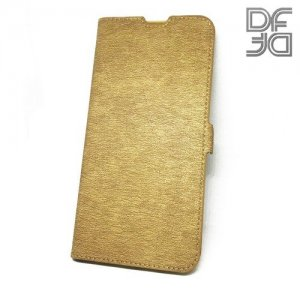 DF флип чехол книжка для Samsung Galaxy A10 - Золотой