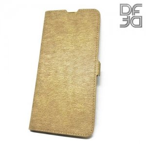 DF флип чехол книжка для Samsung Galaxy A30 / A20 - Золотой