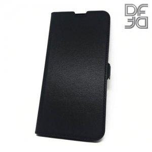 DF флип чехол книжка для Samsung Galaxy A50 / A30s - Черный