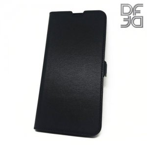 DF флип чехол книжка для Samsung Galaxy A50 - Черный