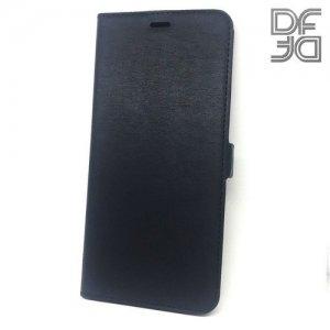 DF флип чехол книжка для Samsung Galaxy A70 - Черный